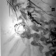 水墨画 龍 墨絵 DragonBall Sumi-e