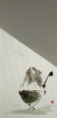 水墨画 かき氷