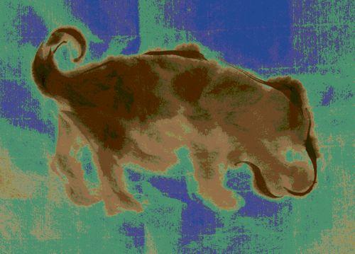水墨画 犬 Dog Sumi-e