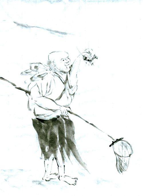 蜆子和尚図 牧谿 模写