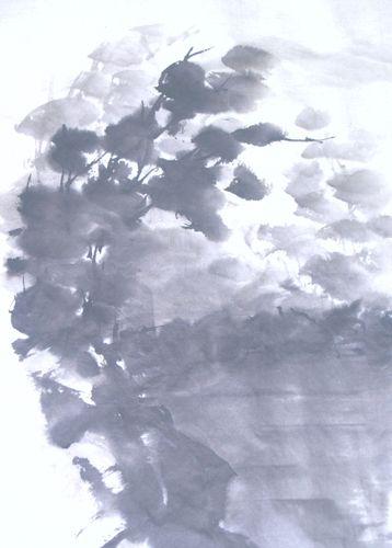 水墨画 岩湖森 Lakewoods