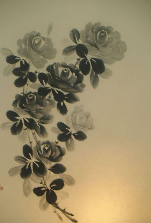 水墨画 薔薇族 - Four Roses -