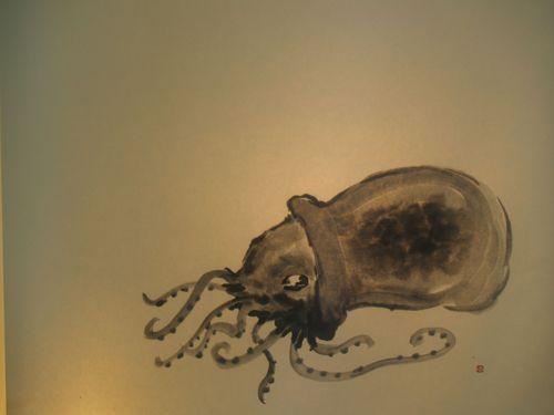 水墨画 蛸 - Octopus -