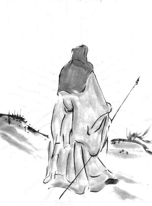 模写:伝徽宗 「秋景冬景山水図」