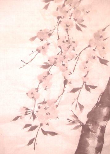 水墨画 桜 墨桜