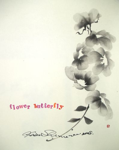 Sumie Flower Butterfly
