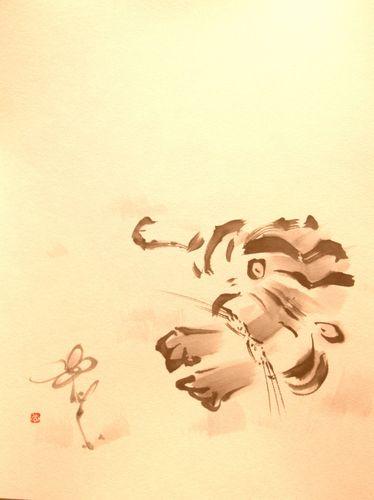 虎と蝶 年賀状用