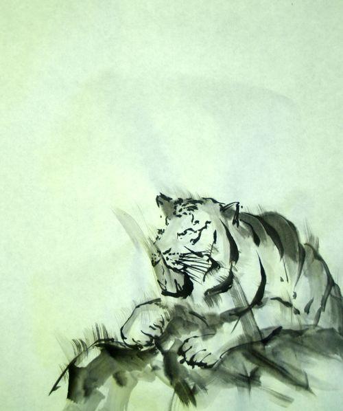 水墨画 虎 Sumi-e Tiger