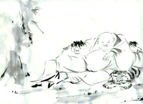 黙庵霊淵:四睡図(模写)