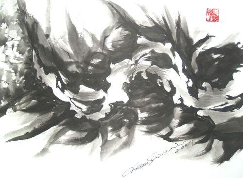 水墨画 抽象1