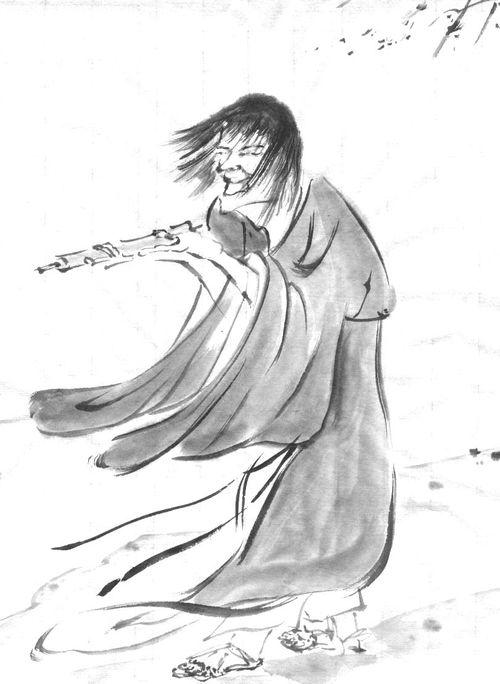 (模写)霊彩「寒山図」大東急記念文庫蔵